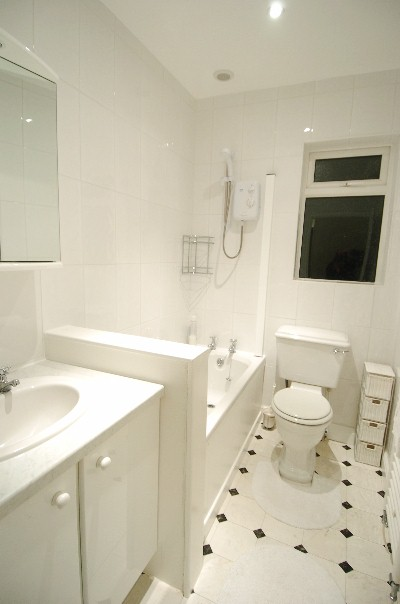 Beautiful And White Bathroom With Hexagonal Tiles Design Metro Tiles Geebung